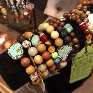 Jewelry - Gemstone & Lava Rock bracelets